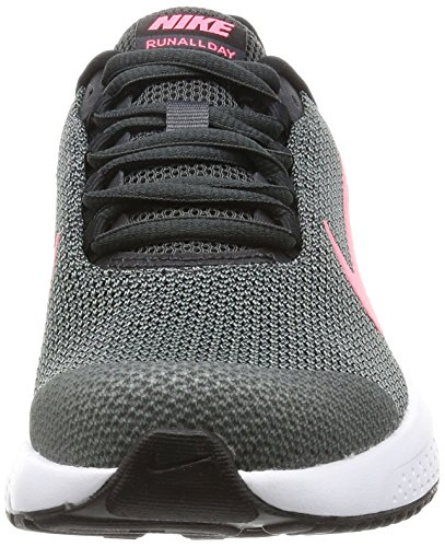 Nike Wmns Runallday, Chaussures de Running Femme Multicolore (Anthracite/hot Punch/black/white)