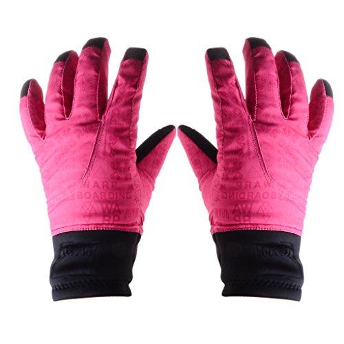 Generic Wasserdichte Wintersport Super-Warm Handschuhe / Skihandschuhe / Winterhandschuhe – Maulbeere, M