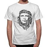 thedifferent T-Shirt Uomo Ernesto Che Guevara Faccia Multi Foto - Bianco