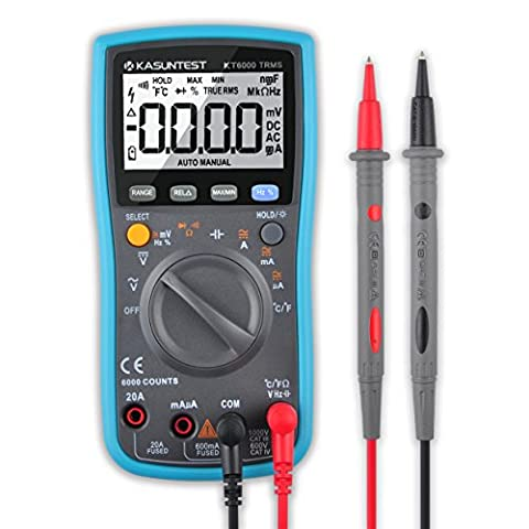 KASUNTEST 6000 Counts TRMS Auto/Manual Ranging Digital Multimeter Multitester/Electrical Tester/Circuit