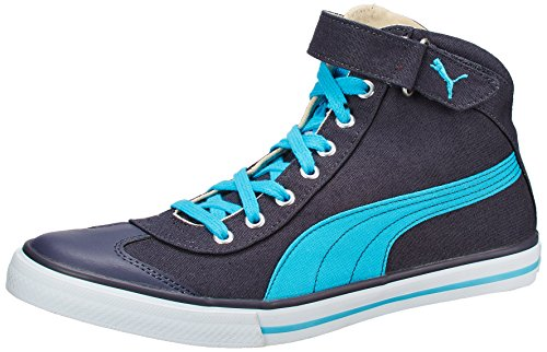 Puma Unisex 917 Mid 3.0 DP Periscope, Blue Atoll and White Canvas Sneakers - 9 UK  available at amazon for Rs.1695