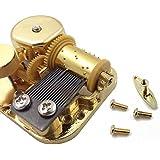 Caja de música de 18 notas, mecanismo de cuerda, metal, dorado, Melody: Over The Rainbow