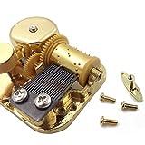 Spielwerk für Spieluhr, 18 Töne, vergoldet, Aufzieh-Spielwerk für DIY, metall, gold, Melody: Canon