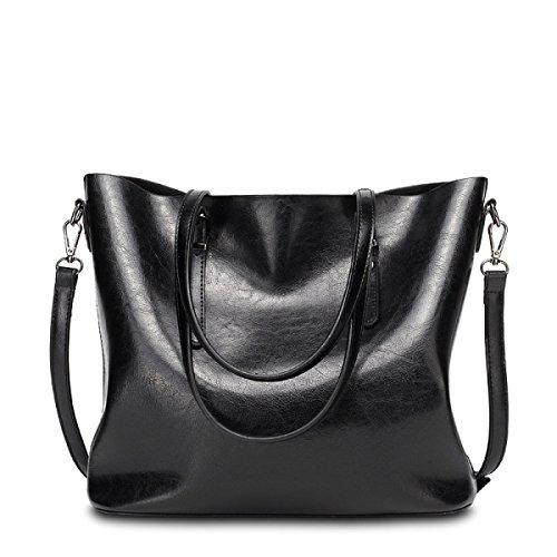 RAN Frau Ölwachs Lederhandtasche Schultertasche Messenger Bag Europäischen Und Amerikanischen Stil Mit Kübeln D