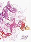 Brunnen 107295927 Schülerkalender/Schüler-Tagebuch (2 Seiten = 1 Woche, 12x16cm (A6), Broschur-Einband Schmetterling, Kalendarium 2016/2017)