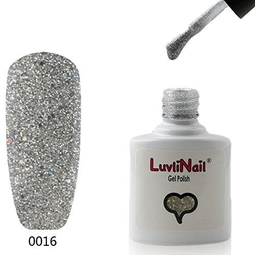 LuvliNail - UV / LED Gel Nail Polish 10ml - Silver Glitter