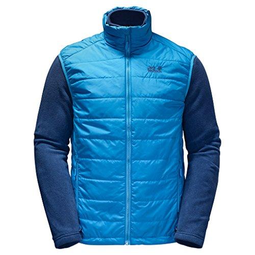 Jack Wolfskin Mens Glen Dale Warm Insulating Fleece & Gilet Combo Ocean Blue