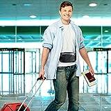 Bauchtasche Flach Reisen Sport Hüfttasche RFID 100% Diebschutz | Klappbar Design | Wasserdicht für 6 Zoll Handhy Iphone 6/ 6s/ 6Plus/ 7 Gürteltasche für Damen Herren -