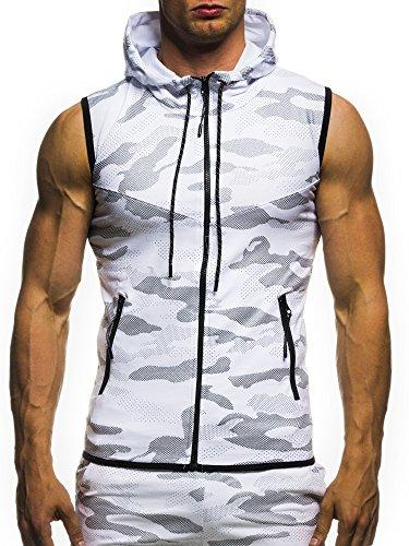 LEIF NELSON GYM Herren Fitness Weste Trainingsweste Camouflage 04-70061