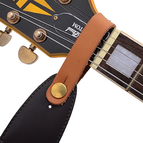 Magideal Black Microfiber Leather Strap Hook for Acoustic Electric Guitar Headstock  available at amazon for Rs.200