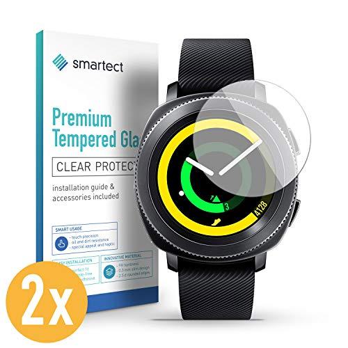 0869095e9f smartect Protection d'Écran en Verre Trempé pour Samsung Gear Sport [2  Pièces]