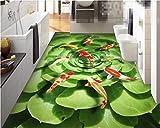 LANYU Benutzerdefinierte Boden Tapete Tapete Wohnzimmer Badezimmer 3D Bodenfliese Stereo Malerei, 200 * 140 cm