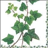 4tovaglioli per decoupage-a strati, 33x 33cm-edera viticcio