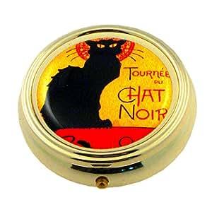 Souvenirs de France - Pilulier Paris Chat Noir
