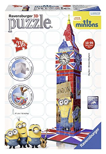 Ravensburger Minions Big Ben, 216pc 3D Jigsaw Puzzle