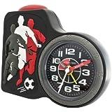 Jacques Farel Kinderwecker Jungen Fußball ohne Ticken, mit Licht und Snooze ACB 716 FO