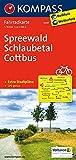 Spreewald - Schlaubetal - Cottbus: Fahrradkarte. GPS-genau. 1:70000: Fietskaart 1:70 000 (KOMPASS-Fahrradkarten Deutschland, Band 3047)