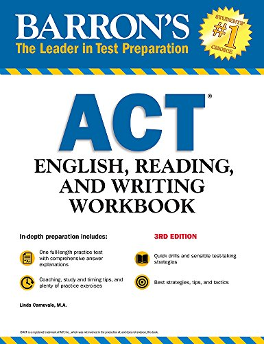 Barron's ACT English, Reading, and Writing Workbook (Barron's Test Prep) - Barron Act-test