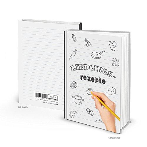 Hard Cover Moderno Negro blanca A5Recetas favoritas libro de cocina