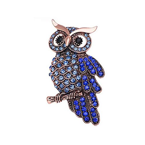 Crystal Owl Brosche Schal Clip Revers Pin Broches Frauen Pullover Hüte Schnallen Minzhi (Owl-hut-schal)