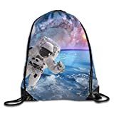 MISYRC Astronaut Spaceman Outer Space Planet Saturn Earth Sun Universe Elements of This Image Furnished Drawstring Bags Running Gym Backpack