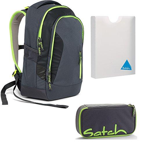 Satch SLEEK Phantom 3er Set Schulrucksack + Schlamperbox + Stylerbox