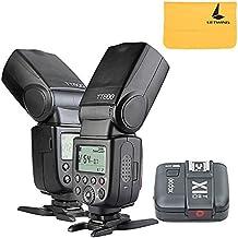 2x Godox TT600 2.4G Inalámbrica Cámara Flash Speedlite + X1T-C TTL Transmisor para Canon(2xTT600+ X1T-C)