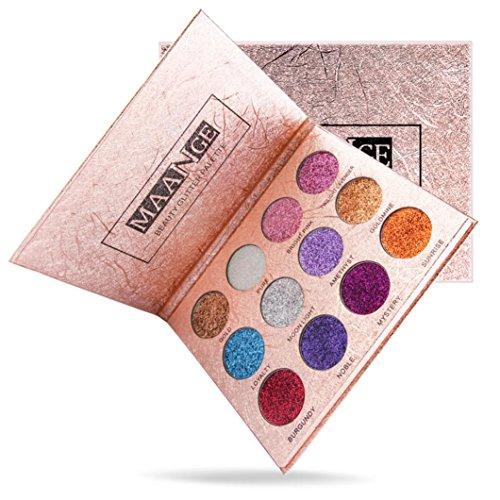 Xshuai Fashion 12 Colors Eyeshadow Palette ❤ Luxury Golden Matte Nude Glitter matte Professional Makeup cosmetic Waterproof Eyeliner Sexy (Multicolor)