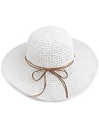 Cappello MEIDUO estivo di paglia femminile di protezione solare pieghevole  di protezione UPF 50 per le 9cd51b2b1d7f
