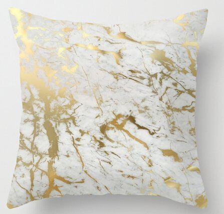 uniquetype Fashion Kopfkissen GOLD Marmor inspiriert durch die Schönheit von Marmor Stil Nice Kissenbezug Bettwäsche Set Kissen Fällen, schwarz, 40,6 x 40,6 cm (16 x 16 Zoll)