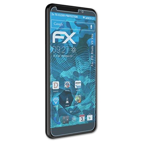 atFolix Schutzfolie kompatibel mit ZTE Blade V9 Vita Folie, ultraklare FX Bildschirmschutzfolie (3X)