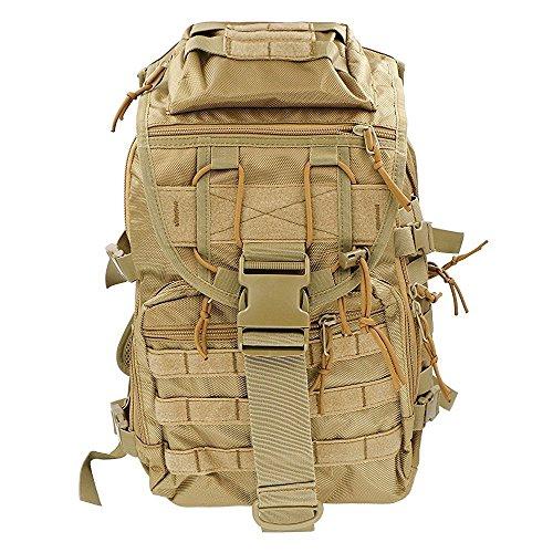 iTemer Rucksack Taktischer Rucksack Backpack Bergsteigen-Tasche Tarnung Beide Schultern Lässige Taschen Khaki