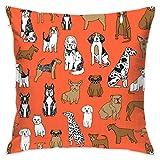 Dogs Orange Dogs Pets Pet Dog Bulldog Terrier Cute Dogs Flannel Decorative Square Pillow Cushion Cover Sofa Home Decor Modern 18 X 18 inch(45 X 45 cm