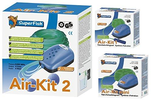 Superfish Air-Kit 1 (96 l/h) Teichbelüftungs - Set (Luftpumpe+Stein+Schlauch)