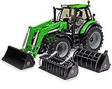 Weise-Toys weise-toys1046Deutz-Fahr Agrotron 6190TTV mit Frontlader 3Tools 2013–2016Traktor Modell Spielzeug