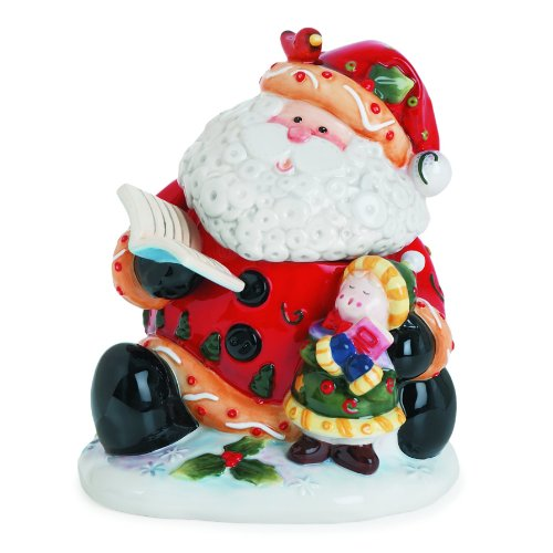 Singing Santa Collection, Candy Jar by Fitz and Floyd -