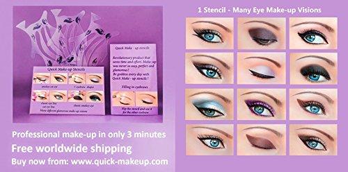 ORIGINAL Rapide Makeup Stencils Outil de Maquillage des Yeux Parfait