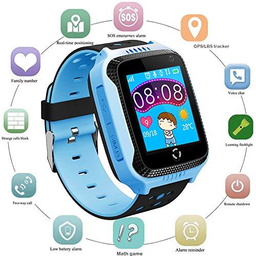 Niños Smartwatch Localizador GPS, Reloj Teléfono con GPS LBS Tracker Chat de...