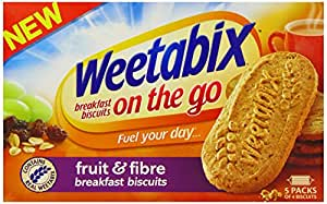 Weetabix Breakfast Biscuits Fruit and Fibre 50 g (Pack of 4)
