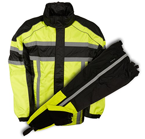 Preisvergleich Produktbild NexGen Men's Rain Suit (Black / Neon Green,  Large)