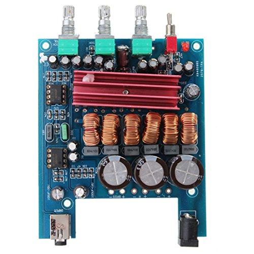 TOOGOO (R) 12V 50Wx2 + 100W TPA3116D2 2.1 HIFI Digital-Verstaerker Subwoofer-Modul Blau