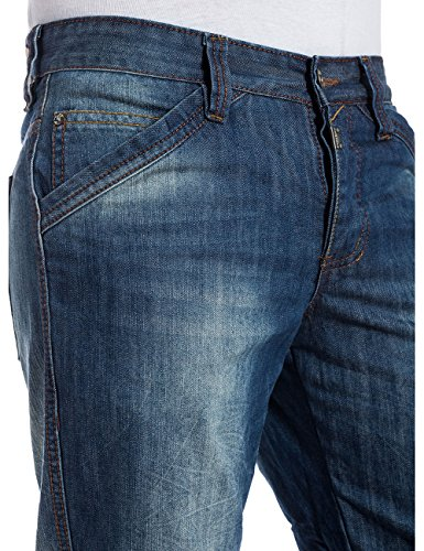 Timezone Herren Relaxed Jeans CesareTZ Blau (blue surface wash 3775)