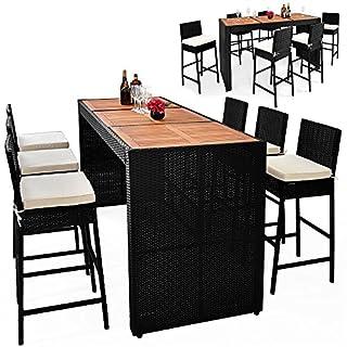 Bar de jardin Ensemble table chaises 13 pièces en polyrotin avec coussins Jardin