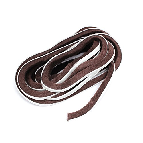 ZCHXD 7/20-inch x 3/5-inch x 19.7 Feet Self-Adhesive Weather Seal Strip Brown -