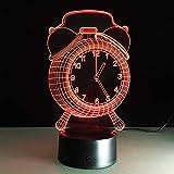 3D Lampe Licht LED Wecker Touch-Taste Farbe oder 7-Farben ändern Kinder Schlafzimmer Dekoration junge Geschenk Flur Dekoration