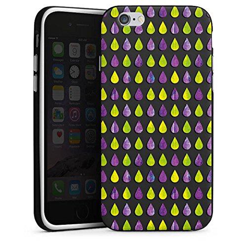 Apple iPhone 5s Housse Étui Protection Coque Pluie Gouttes Motif Housse en silicone noir / blanc