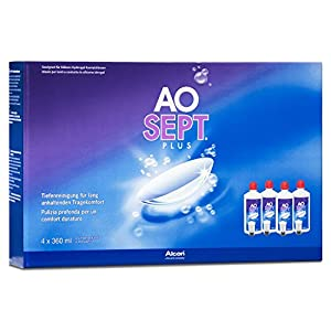 Alcon Aosept Plus Systempack, 4 x 360 ml, 1er Pack (1 x 1.44 l)