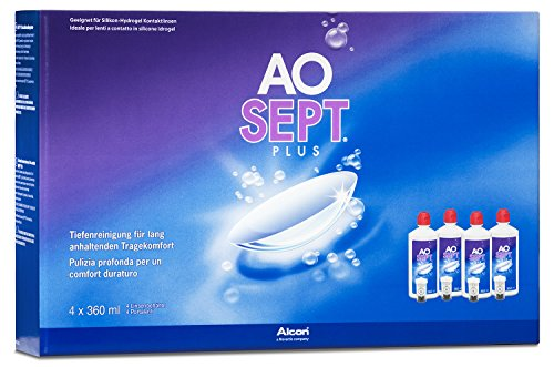 Aosept Plus Systempack, 4 x 360 ml, 1er Pack (1 x 1,44 l)