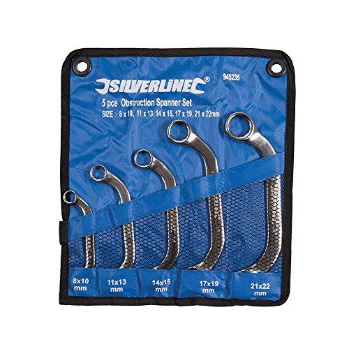 Silverline 945235 Starter-Blockschlüssel, 5-tlg. Satz 8-22 mm