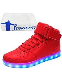 (Presente:peque?a toalla)Rojo EU 43, carga moda rojos colores JUNGLEST? destella zapatos que deporte del 7 de